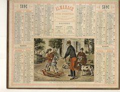 (CALENDRIER) ALMANACH 1891 Des Postes Et Telegraphes ( Le Futur Saint Cyrien) - Calendars