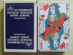 LES ASSURANCES MUTUELLES AGRICOLES SAMDA SORAVIE. Jeu Usagé De 32 Cartes Dans Sa Boite Cartonnée - 32 Kaarten