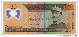 DOMINICAN REPUBLIC PLASTIC 20 PESOS ORO 2009 Pick 182 Unc - Dominicana