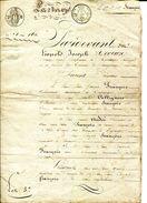 57.MOSELLE.TRESSANGE.VENTES DE TERRE.1826. - Manuscrits