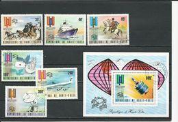 HAUTE-VOLTA  Scott 332-334, C189-C191, C192 Yvert 323-325, PA171-PA173, BF5W (6+bloc) O Cote 5,60$ 1974 - Haute-Volta (1958-1984)