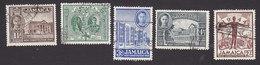 Jamaica, Scott #129-133, Used, Scenes Of Jamaica And George VI, Issued 1945 - Jamaica (...-1961)