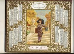(CALENDRIER) ALMANACH 1912 Des Postes Et Telegraphes(  Feuilles D Automne) Doble - Calendars