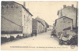 Cpa Saint Maurice De Lignon - Le Quartier De La Poste - France