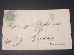 ESPAGNE - Lettre Pour La France En 1870 , Affranchissement Plaisant - L 11201 - Cartas