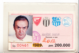 ANNUALY TICKET FOR FOOTBALL MATCHES OF RED STAR,PARTIZAN,OFK AND GRO ,BELGRADE,SERBIA - Match Tickets