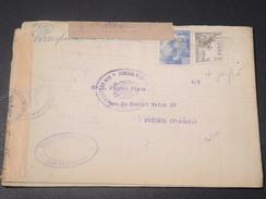 ESPAGNE - Enveloppe Avec Censure De San Sébastien Pour La France En 1942 , Affr. Plaisant Dont Perforé - L 11202 - Republikanische Zensur