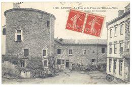 Cpa Loudes - La Tour Et La Place De L'Hôtel De Ville - Loudes