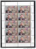 Armenia 2000,  Karen Demirchian's Sheetlet Of 10 Where Four Of The Stamps Have Vazgen Sargsian's Name, Error - MNH ** - Armenia
