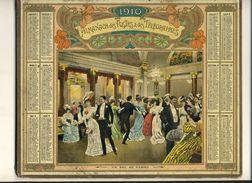 (CALENDRIER) ALMANACH 1910 Des Postes Et Telegraphes(   Un Bal  Au Casino) - Calendars