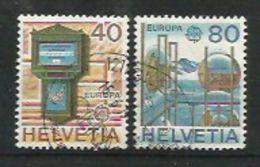 Schweiz / Helvetia  1979  Mi.Nr. 1154 / 1155 , EUROPA CEPT Geschichte Der Post- Und Fernmeldewesens - Gestempelt / Used - Usati