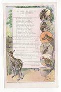 Chromo  PNEU BERGOUGNAN  à Clermont Ferrand   Fables De La Fontaine   Chromo Recto Verso - Chromos