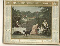 (CALENDRIER) ALMANACH 1891 Des Postes Et Telegraphes(  Lla Fete De La Grand Mere ) - Calendriers