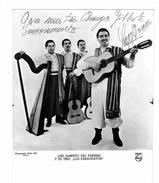 Photo Dèdicacèe Des LOS PARAGUAYOS (24 X 18 Cm) Luis Alberto Del Parana Et Son Trio - Repro's