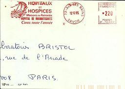 Lettre  EMA Havas P  Hopital Hospice  Santé Medecine Cure Transport Bateau Sport Voile 73 Aix Les Bains   B/1242 - Marcophilie (Lettres)