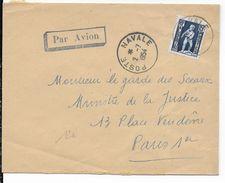 1954 - POSTE NAVALE - ENVELOPPE D'ALGERIE => PARIS - Marcophilie (Lettres)