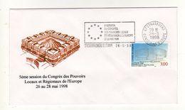 Enveloppe 5e Session Du Congrès Des Pouvoirs Locaux Et Régionaux De L' Europe  STRASBOURG CONSEIL DE L EUROPE 26/05/1998 - FDC