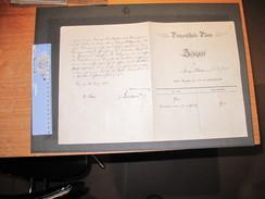 PRINZENSCHULE 1903/1904 - PRUFUNGSZEUGNIS Magdeburg 9/8/1913 -  2 Bulletins. - Diploma & School Reports