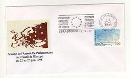Enveloppe Session De L' Assemblée Parlementaire Du Conseil De L' Europe Du 26 Au 26 Juin 1998 STRASBOURG 22/06/1998 - FDC