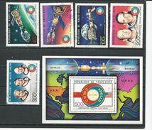 HAUTE-VOLTA  Scott 370-371, C216-C218, C219 Yvert 359-360, PA193-PA195,  BF5AG (5+bloc) O Cote 4,75$ 1975 - Haute-Volta (1958-1984)