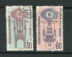 TCHECOSLOVAQUIE- Y&T N°1288 Et 1289- Oblitérés - Gebraucht