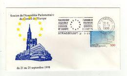 Enveloppe Session De L' Assemblée Parlementaire Du Conseil De L' Europe Du 21 Au 25 Septembre 1998 STRASBOURG 21/09/1998 - 1990-1999