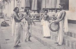 CEYLON CEYLAN Tamil Musicians Musiciens Tamouls Types Musique Music - Sri Lanka (Ceylon)