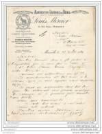 13 1858 MARSEILLE 1921 Alimentation Du Betail LOUIS MERCIER Rue Haxo FARINE DE COCOTIER - ARACHIDES  Marque LE ZEBRE - Agriculture