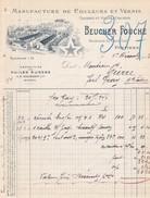 Facture Beucher Fouche Poitiers 1913 Manufacture De Couleurs Et Vernis - France