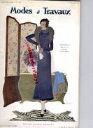 REVUE MODES & TRAVAUX-1ER NOVEMBRE 1932- N° 309- BOUCHERIT-FOURRURES GUELIS PARIS-BEBE NESTLE-MOLYNEUX-LELONG- - Fashion