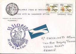 MARCOPHILIE NAVALE LETTRE RARE AFRIQUE DU SUD FREGATE DE SURVEILLANCE FLOREAL 1997 - Afrique Du Sud (1961-...)