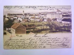 TCHEQUIE  -  JICIN  :  Carte Couleur  Vers 1900  -  Timbre Autrichien      - Czech Republic