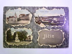 TCHEQUIE  -  JICIN  :  Carte Multivue Couleur    -  Timbre Autrichien      - Czech Republic