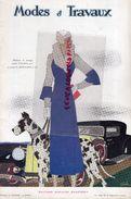 REVUE MODES & TRAVAUX-15-11-1932- N° 310- BOUCHERIT- MULHOUSE MIGALINE-CAFE SANKA-LANVIN-MAGGY ROUFF-AGNES DRECOLL-DAVID - Fashion