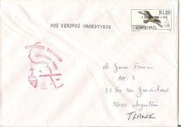 MARCOPHILIE NAVALE LETTRE AFRIQUE DU SUD FREGATE SURCOUF CORYMBE XXXV - Afrique Du Sud (1961-...)