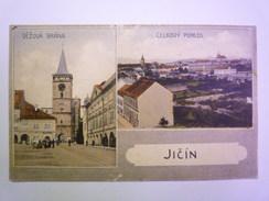 TCHEQUIE  -  JICIN  :  Carte 2  Vues Couleur  -   - Czech Republic