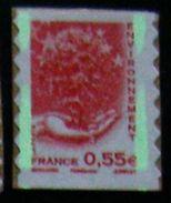 [18] Variété : N° 4199 Environnement Bandes De Phosphore Coupées En Deux ** - Varieties: 2010-.. Mint/hinged