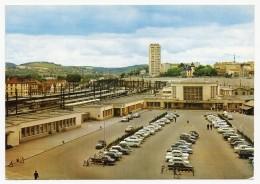 Dijon - La Gare Avec Parking - Usagé 1966 - Dijon