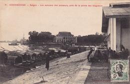 COCHINCHINE Saïgon Les Sampans Des Passeurs Près De La Pointe Des Blagueurs - Postcards