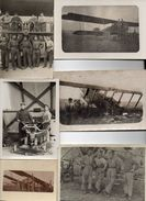 11 Photographies Originales Avion Aviation Années 10, 20 Et 30 - Aviazione