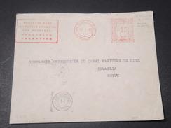 PALESTINE - Enveloppe De Jérusalem Pour L 'Egypte En 1942 Avec Censure Anglaise , Affranchissement Mécanique - L 11229 - Palestine