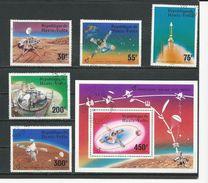 HAUTE-VOLTA  Scott 398-400, C238-C239, C240 Yvert 388-390, PA208-PA209, BF5AP (5+bloc) O Cote 4,25$ 1976 - Haute-Volta (1958-1984)