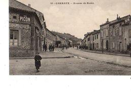 81-----CARMAUX--avenue De Rodez--( Peu Courante )--voir 2 Scans - Carmaux