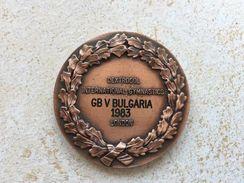 ULTRA RARE 1983 GB&BULGARIA GYMNASTICS LONDON BRITISH OFFICIAL ASSOCIATION PLAQUE MEDAL - Gymnastics