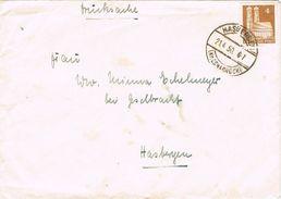 26921. Carta HASBERGEN (Alemania Zona Anglo American Ocupation) 1950. Impresos. Drucksachen - Zona Anglo-Américan