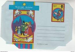 GB  CHRISTMAS AEROGRAMME Illus HOBBY HORSE Toy VIOLIN ,  TEDDY BEAR Postal Stationery Cover Stamp Music - Stamped Stationery, Airletters & Aerogrammes