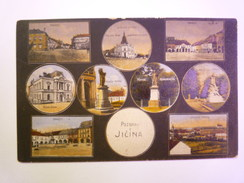 TCHEQUIE  -  JICIN  :  Pozdrav Z Jicina  -  Carte Multivue Couleur   1923  -  Timbre Tchekoslovaque    - Czech Republic