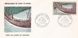 COTE D'IVOIRE ABIDJAN Le Pont De Lianes De Lieupleu 4/12/65 - Ivory Coast (1960-...)