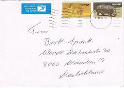 26924. Carta Aerea WINDHOEK (Sout Africa) SWA 1985.  Hipopotamo, Oryx - África Del Sur (1961-...)