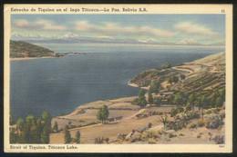 Bolivia. La Paz. *Estrecho De Tiquina...* Circulada 1950. - Bolivie